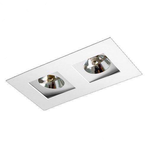 Luminária Retangular Foco Duplo Recuado Direcional 13,5x27cm AR70