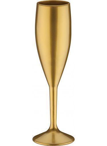 Taça de Espumante Plástico Dourado Marmorizado 170ML