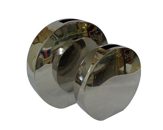 Conjunto Vaso Redondo de Metal 2 peças