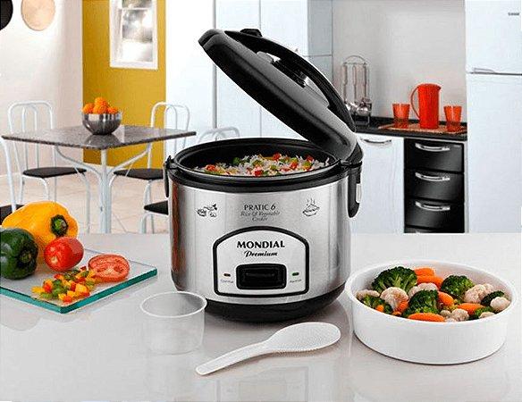 Panela Elétrica Pratic Rice & Vegetables Cooker 6 Premium 110V Mondial - PE-02
