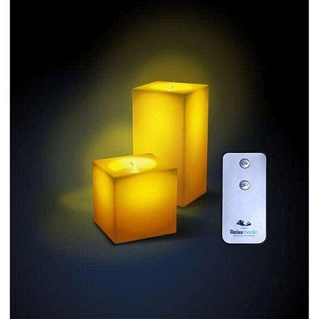 Conjunto Vela Square Led RelaxMedic - RM-VL0015