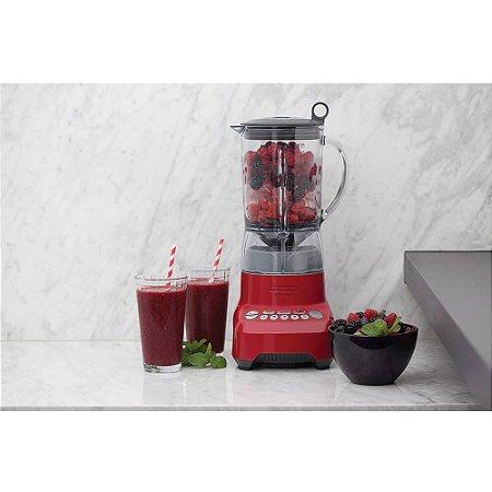 Liquidificador Smart Gourmet Vermelho com Copo Tritan 7 Tarefas 1100 W 1,5L 127v Tramontina By Breville