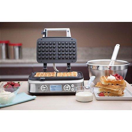 Máquina de Waffle em Aço Inox Fosco 12 Funções 127v Tramontina By Breville