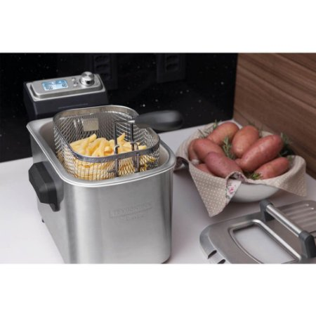Fritadeira Elétrica Smart em Aço Inox 7 Funções 4 L 127v Tramontina By Breville