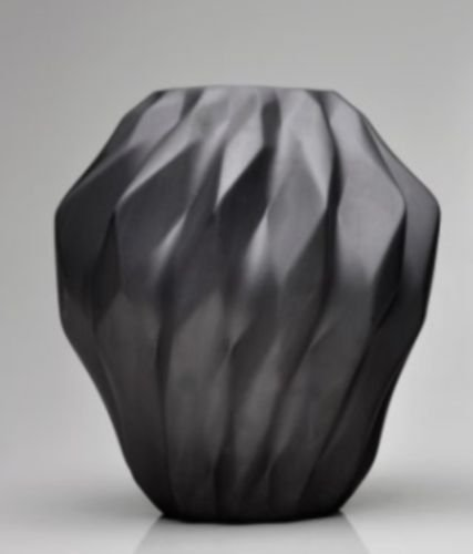 Vaso de Porcelana Plissan Geométrico P 30cm