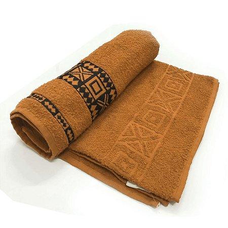 Toalha De Banho Nomade – Cor Laranja c/ Preto 75cm X 1,40m