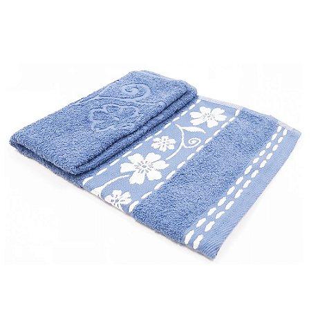 Toalha De Rosto Luna - Cor Azul 47x77 cm