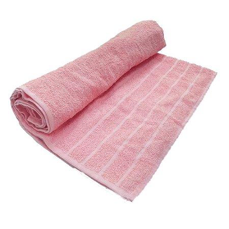 Toalha De Banho Barra – Cor Rosa Escuro 68cm X 1,28m