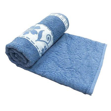 Toalha De Banho Luna – Cor Azul Claro 75cm X 1,40m