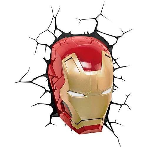 Luminária de parede Homem de Ferro 3D