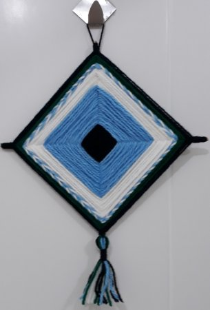 Mandala de Lã Azul-claro
