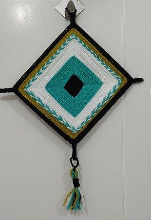 Mandala de Lã Verde-água
