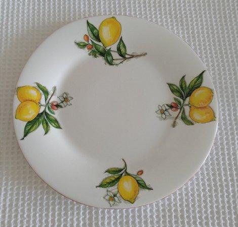 Prato Porcelana Decorado com Limões Sicilianos