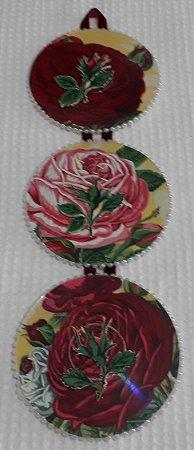 Quadrinho Decorativo Redondo em Trio