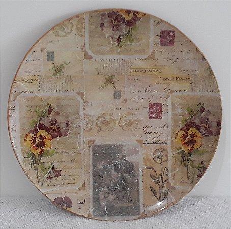 Prato Decorado Vintage