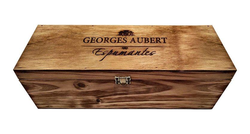 Embalagem Madeira Georges Aubert - Para 1 garrafa