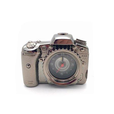 Relógio de mesa máquina fotográfica