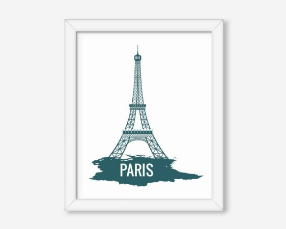 Quadro Paris Torre Eiffel