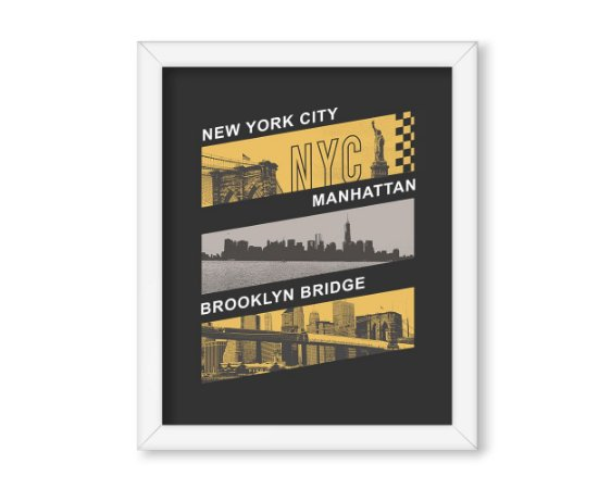 Quadro NYC - Manhattan - Brooklyn Bridge