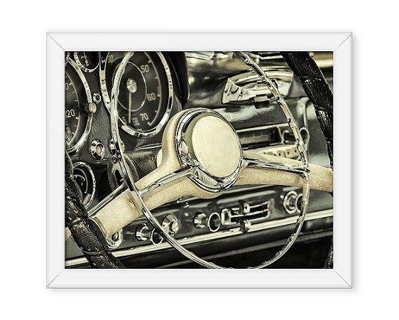 Quadro Painel Carro Antigo Retro
