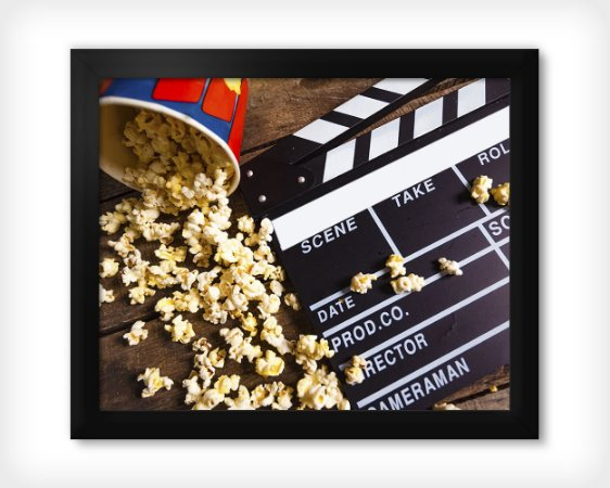 Quadro Cinema + Pipoca
