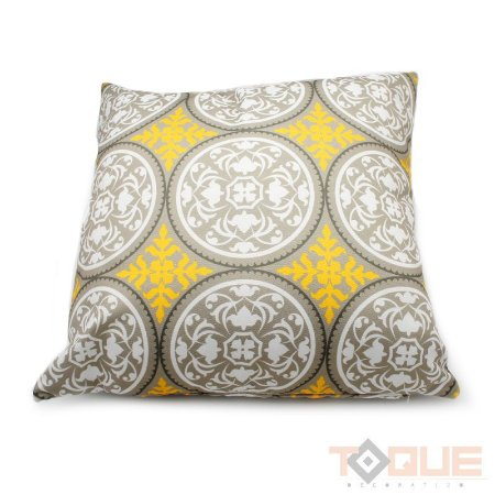 Almofada Mandala Amarela e Branca