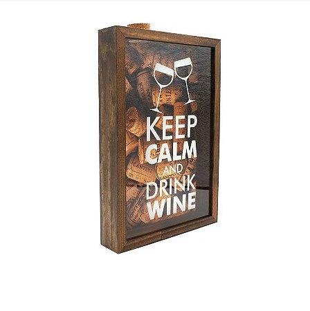Porta Rolhas Keep Calm