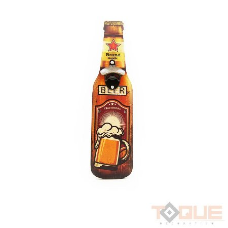 Porta abridor de garrafa em Madeira - Beer