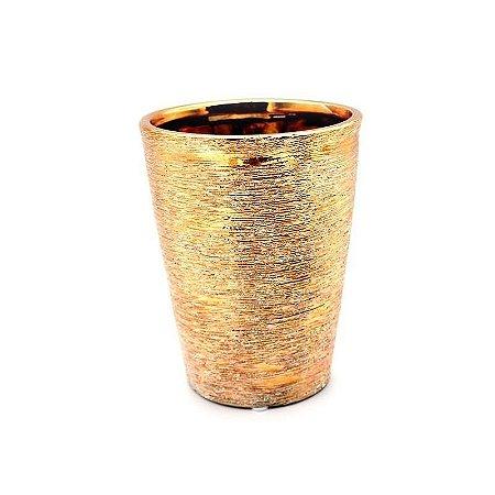Cachepot Dourado Alto