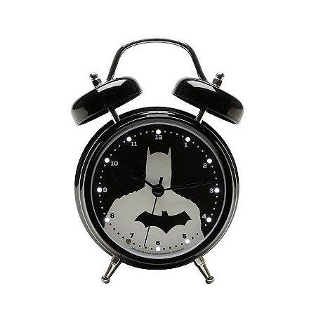Relógio despertador com Led e som Batman
