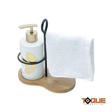 Porta Sabonete Liquido com Toalha
