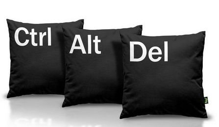 Jogo de Almofadas CTRL+ALT+DEL