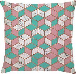 Capa de Almofada Cubo Aqua Rosa