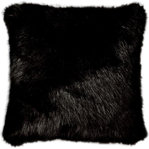 Capa de Almofada Polar Preta