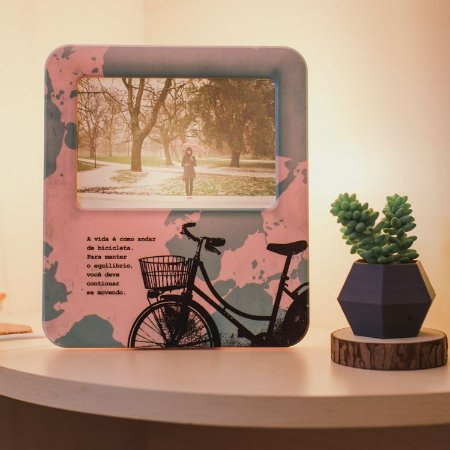 Luminária Porta Retrato Bike