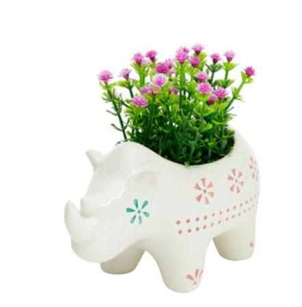 Cachepot de Cerâmica Animals rhino