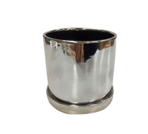 Cachepot em cerâmica Shiny Prata