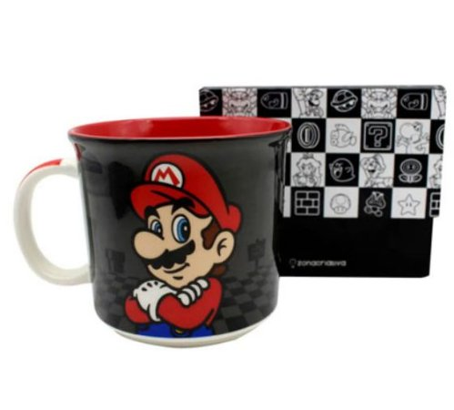 Caneca de cerâmica Mario Black