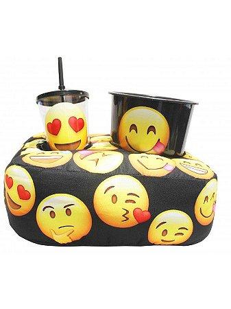 Kit Almofada Porta Pipoca Emoji