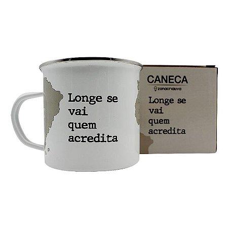 Caneca Acreditar/Viagem