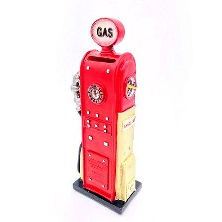 Cofre resina bomba de gasolina miniatura vintage retrô