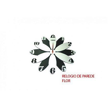 Relógio de Parede Modelo Flor 39X3cm