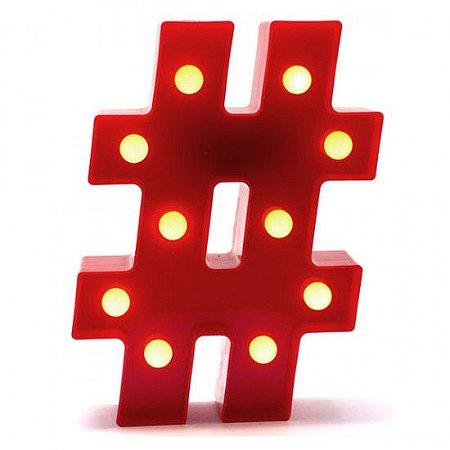 Luminária Caractere Especial # Vermelha