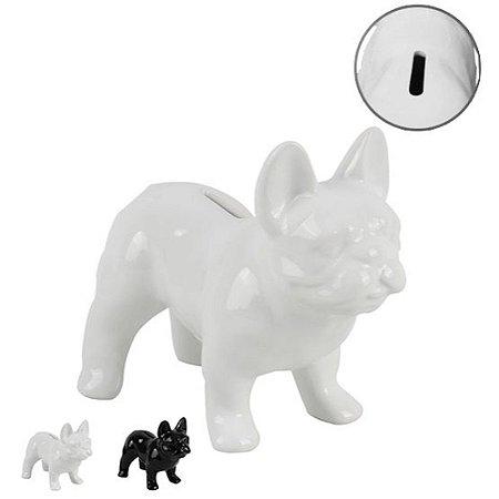Cofre cachorro para decoração - Branco