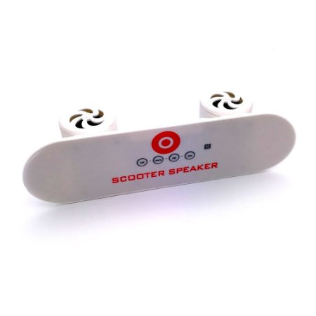 Mini Radio Skate com entrada USB - Branco