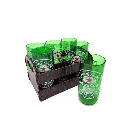 Kit com 6 copos da Heineken
