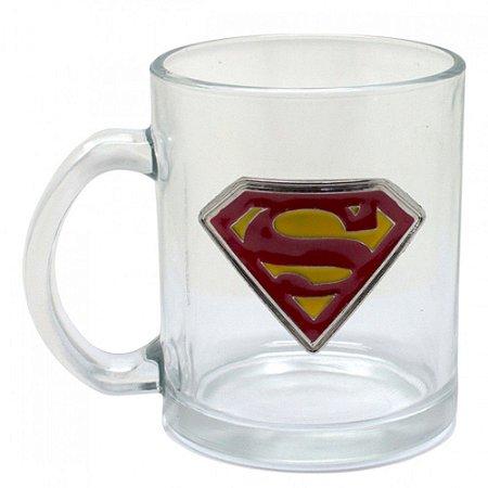 Caneca de Vidro do Super Man