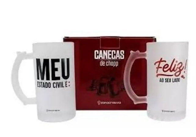 Kit Caneca Chopp 450 ml