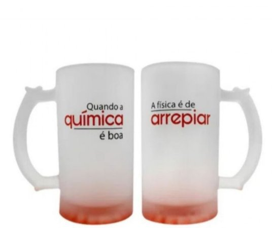 Kit c/2 Canecas de Chopp 450 ml Química