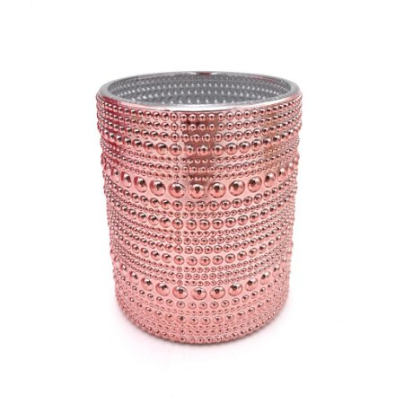 Vaso decorativo em vidro rose